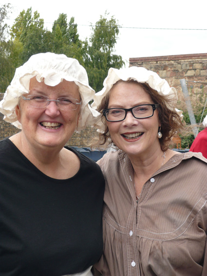 VIC volunteer Cheryl Griffin (with Colette McAlpine)